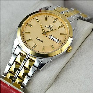 Omega De Ville Day And Date Gold Round Watch in Pakistan