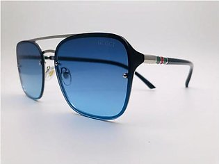 Gucci Blue Glass Silver And Printed Frame 42301 SUNGLASSES in Pakistan
