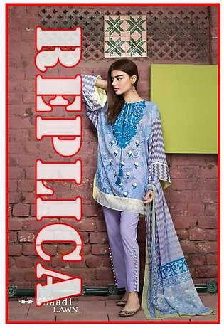 Khaadi Embroidered Neckline Printed Lawn Suit R KD17 05A in Pakistan