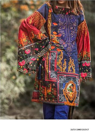 ROCOCO BY SALITEX Embroidered Luxury Digital Lawn Suit ROC18 08 in Pakistan