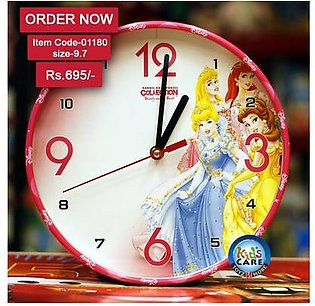 BARBIE PRINCESS COLLECTION Stylish Wall Clock in Pakistan