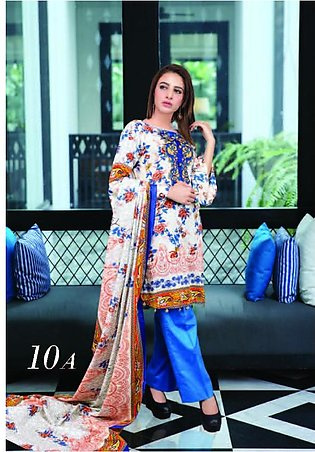 MONSOON BY AL-ZOHAIB Printed Lawn Suit MSPL18 10A in Pakistan