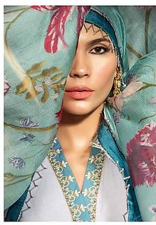 MAHGUL BY AL ZOHAIB Luxury Embroidered Lawn Suit MGLE18 7A in Pakistan