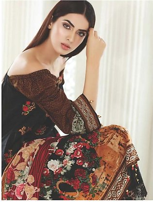 MAHNOOR BY AL-ZOHAIB Embroidered Lawn Suit MHN18 2B in Pakistan