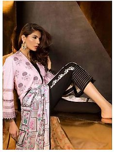 MAHGUL BY AL ZOHAIB Luxury Embroidered Lawn Suit MGLE18 06 in Pakistan
