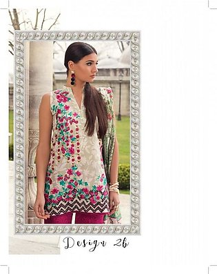 MINA HASAN BY SHARIQ Embroidered Lawn Suit MINA18 2B in Pakistan