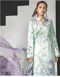 MAHGUL BY AL ZOHAIB Luxury Embroidered Lawn Suit MGLW 9A in Pakistan