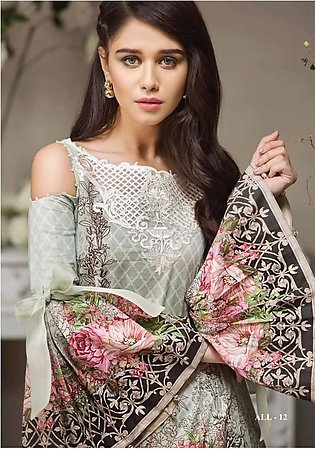 ANAYA BY KIRAN CHAUDHRY Embroidered Lawn Suit ANY18 12 in Pakistan