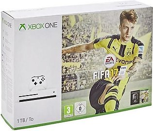 Microsoft Xbox One S 1TB FIFA 17 Bundle with Charging Pod & Vertical Stand in...
