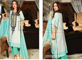 LALA TEXTILES Embroidered Linen Suit LLE 02A in Pakistan