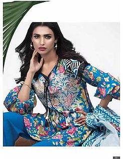 AL KARAM Embroidered Lawn Suit AK18 F21BL in Pakistan