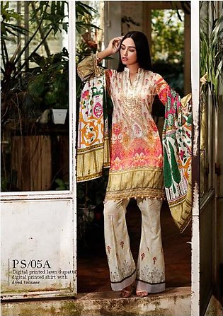 Al Zohaib Printed Lawn Suit SSPR18 5A in Pakistan