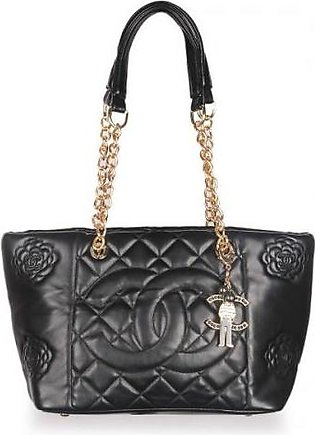 Channeel Caviar Quilted Shopper Tote Bag - Black Hand Bag in Pakistan