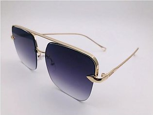 Gucci Purple Grey Glass And Gold Frame 42304 SUNGLASSES in Pakistan