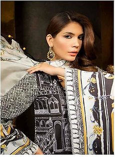 MAHGUL BY AL ZOHAIB Luxury Embroidered Lawn Suit MGLE18 04 in Pakistan