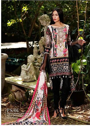 Al Zohaib Printed Lawn Suit SSPR18 04 in Pakistan