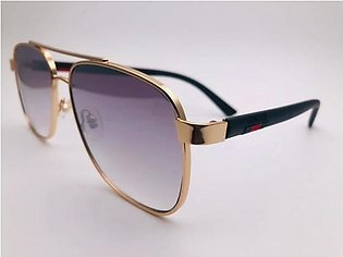 Gucci Purple Glass Gold And Black Frame 42301 SUNGLASSES in Pakistan