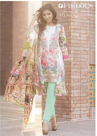 FIRDOUS TEXTILES Luxury Embroidered Lawn Suit FDLW18 15 in Pakistan