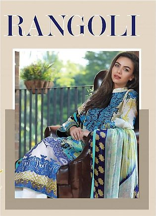 RANGOLI Embroidered Lawn Suit LLE18 01 in Pakistan