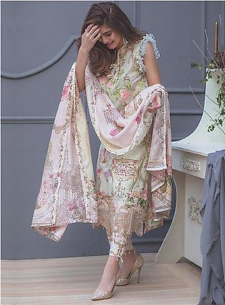 RANG RASIYA Premium Embroidered Lawn Suit RRS18 8A in Pakistan