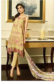 FARAZ MANAN Embroidered SILK Suit CRS 7 in Pakistan