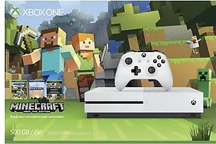 Microsoft Xbox One S 500GB + Minecraft Favorites - Robot White in Pakistan