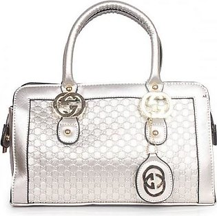 GUCCI GG Embossed Leather Mini Bag - Silver Hand Bag in Pakistan