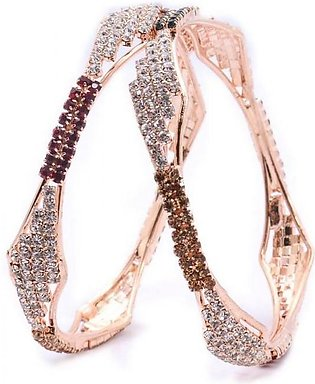 Artificial Golden Diamond Bangles 03 in Pakistan