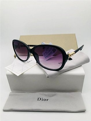 Dior Purple Grey Glass And Black Frame Sunglasses in Pakistan