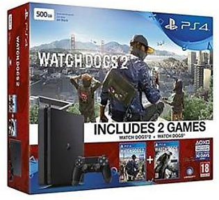 Sony Bundle Offer - PS4 Slim - Playstation 4 slim 500GB - Black & Watch Dogs Collection in Pakistan