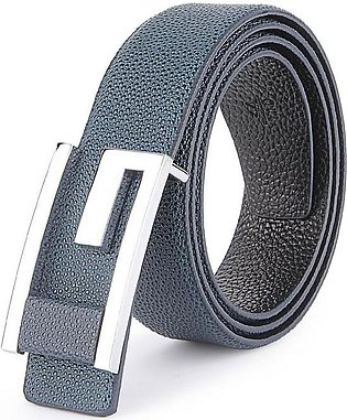 GUCCI Silver G Buckle with Leather Trim - Blue Bubble Textured Belt in Pakistan