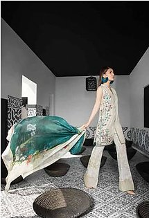 MAHGUL BY AL ZOHAIB Luxury Embroidered Lawn Suit MGLW 2A in Pakistan