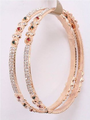 Artificial Golden Diamond Bangles 02 in Pakistan