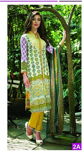 Anum Printed Lawn Suit By Al-Zohaib AMC 2A in Pakistan