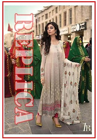 MARIA.B Embroidered Lawn Suit MB18 1B RP in Pakistan