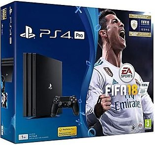 GameStop PS4 FIFA 18 Pro 1 TB with FIFA 18 Ultimate Team Icons and Rare Playe...