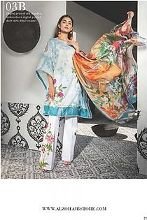 MAHGUL BY AL ZOHAIB Luxury Embroidered Lawn Suit MGLW 4A in Pakistan
