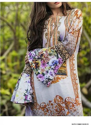 ROCOCO BY SALITEX Embroidered Luxury Digital Lawn Suit ROC18 06 in Pakistan