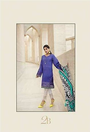 MARIA.B Luxury Embroidered Lawn Suit MBL18 2B in Pakistan