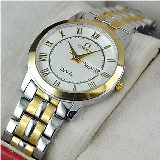 Omega De Ville Day And Date Steel And Gold Watch in Pakistan