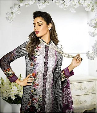 Asim Jofa Embroidered Lawn Suit AJL17 7B in Pakistan