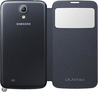 Mobile Accessories Samsung Galaxy Mega 6.3 S-View Cover (Black) in Pakistan