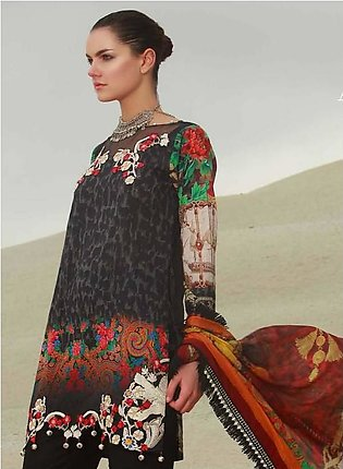 MAHIYMAAN BY AL-ZOHAIB Embroidered Lawn Suit MHM18 12 in Pakistan
