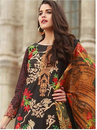 MAHIYMAAN BY AL-ZOHAIB Embroidered Lawn Suit MHM18 03 in Pakistan