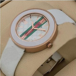 Gucci White Strap Watch in Pakistan