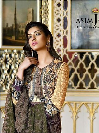 ASIM JOFA Luxury Embroidered Lawn Suit AJL18 11B in Pakistan