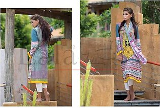 LALA TEXTILES Embroidered Shirt Piece With Stole VTK 5 in Pakistan