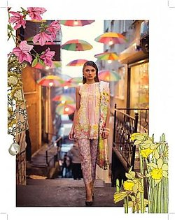 MINA HASAN BY SHARIQ Embroidered Lawn Suit MINA18 7B in Pakistan