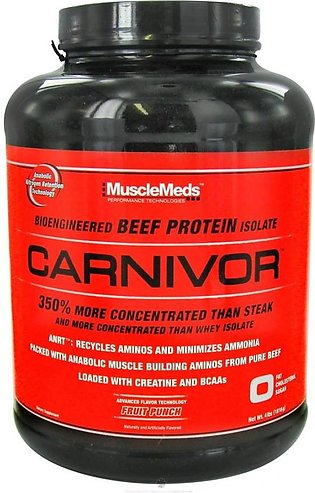 Musclemeds Carnivor Bioengingeered Beef ProTein Isolate 4Lb Supplements in Pa...