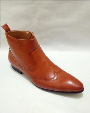 Brogue Cow Boy Design Formal Shoes For Men in Pakistan
